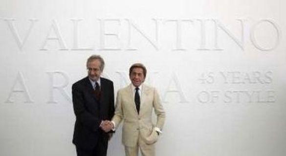 Валентино і мер Вальтер Вельтроні