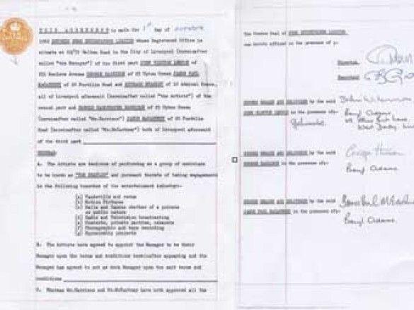 The Beatles. контракт