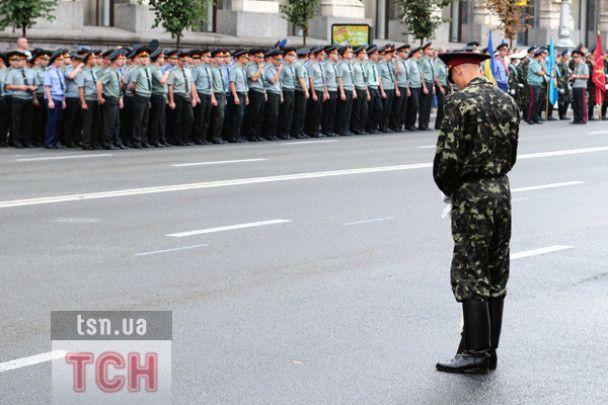 Хрещатик перекрили через репетицію параду до Дня Незалежності