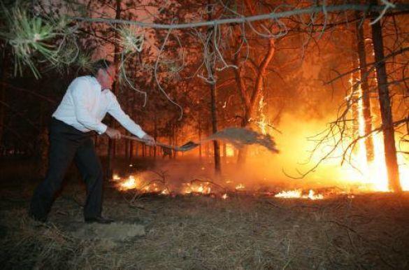 Віктор Ющенко на пожежі