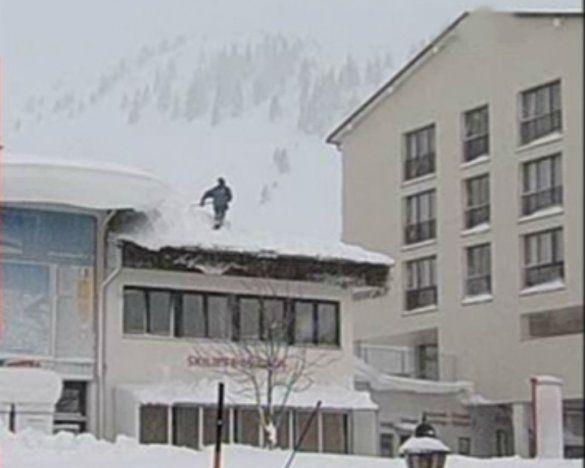 Потужні снігопади накрили Австрію