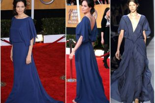 Анджеліна Джолі вдягнула сукню навиворіт