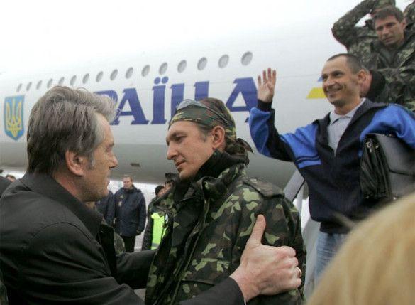 """Зустріч моряків з """"Фаїни"""" у Борисполі"""