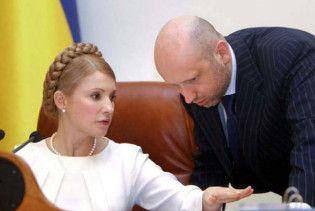 Тимошенко на відповіла, чи стане Турчинов прем'єром у разі її перемоги