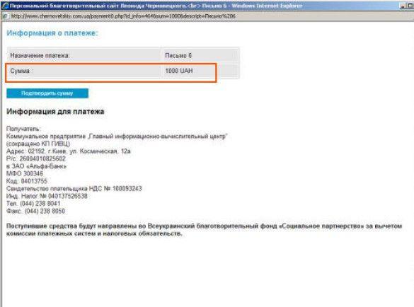 Сайт Черновецького