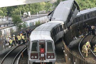 Названі можливі причини зіткнення поїздів у вашингтонському метро