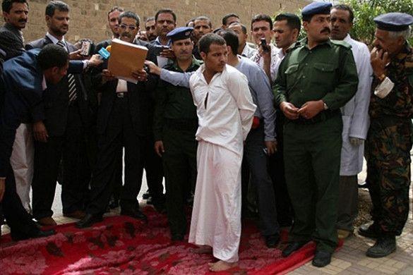 Страта злочинця в Ємені