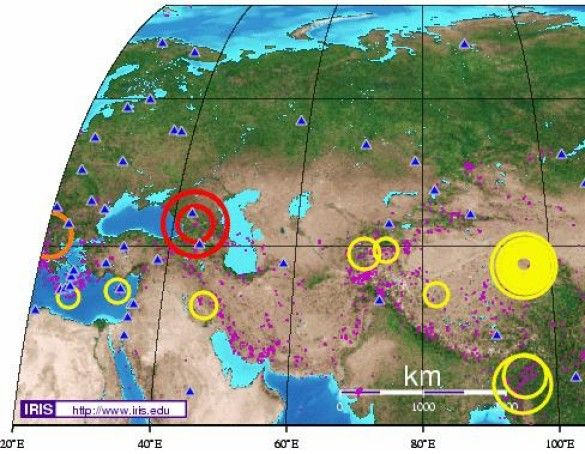 Землетрус. Кавказ