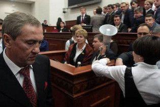 Київські депутати заглушили Черновецького ногами