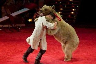 Ведмідь розірвав двох людей під час циркового виступу