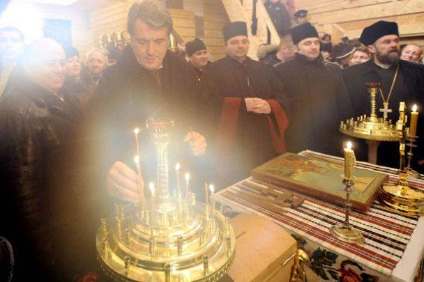 Ющенко відкрив школу і освятив храм