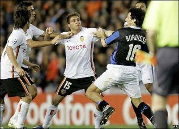 Бійка на матчі Валенсія - Інтер