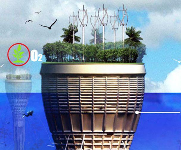 """Архітектори спроектували перший підводний хмарочос - """"водочос"""""""
