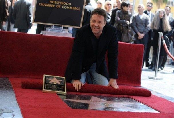 Рассел Кроу отримав зірку на Алеї слави