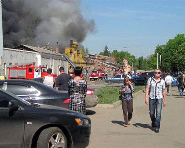 У Харкові сталася пожежа на вагоноремонтному заводі