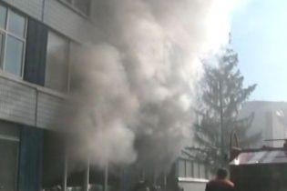 На Чернігівщині горіла школа (відео)