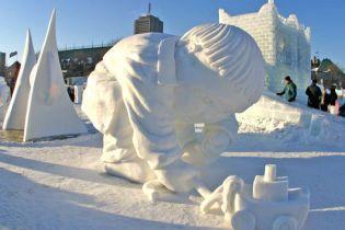 Українці краще всіх роблять снігові скульптури