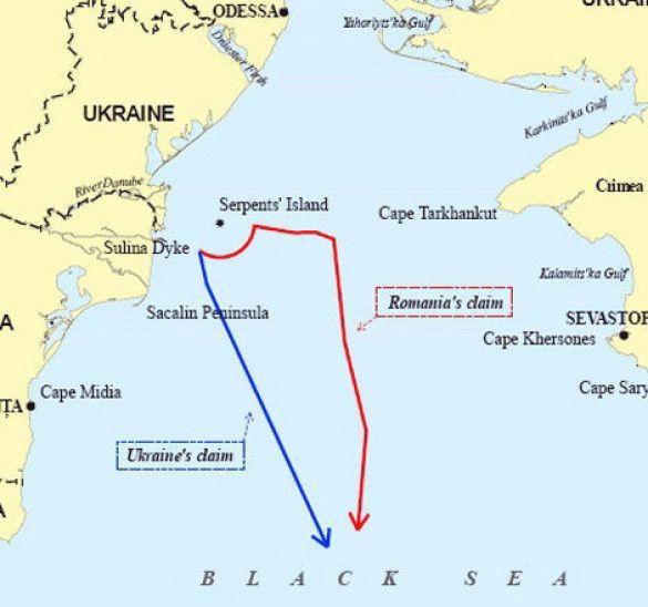 Острів Зміїний, карта
