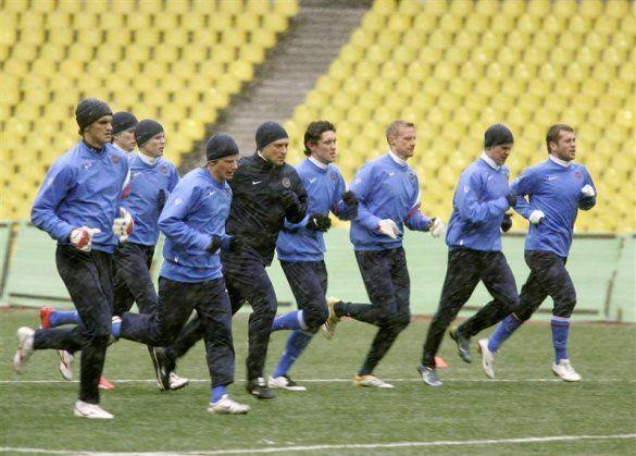 Збірна Росії на тренуванні