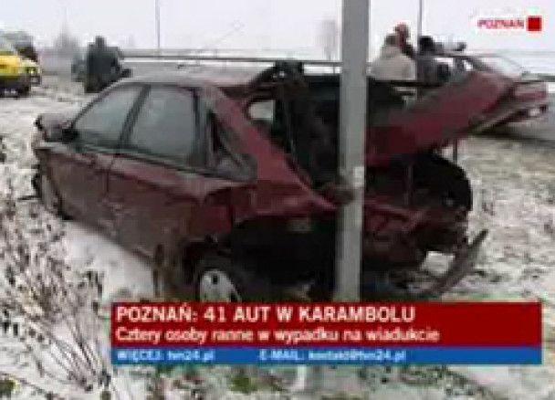 Через ожеледь у Польщі зіткнулися понад 40 авто