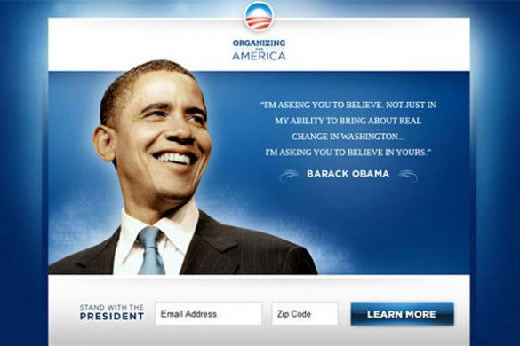 2008: Obama's online campaign