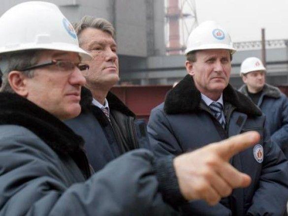 Візит Віктора Ющенка на Алчевський металургійний комбінат