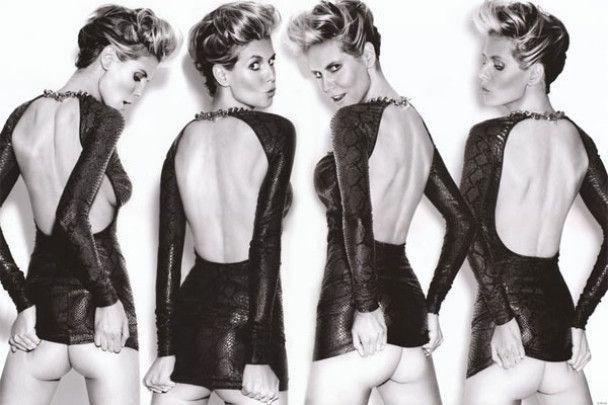 Гола Хайді Клум знялась у шоколадній фотосесії
