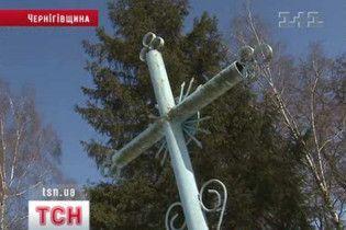 Ялинка з дитячої могили стала головним новорічним деревом райцентру на Чернігівщині