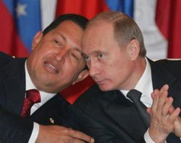 Чавес з Путіном відвідає скачки