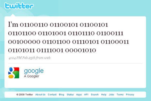 Google на Twitter