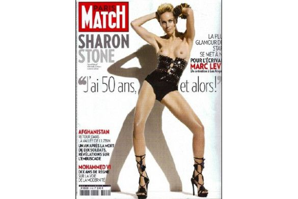 Шерон Стоун роздігнулася для Paris Match