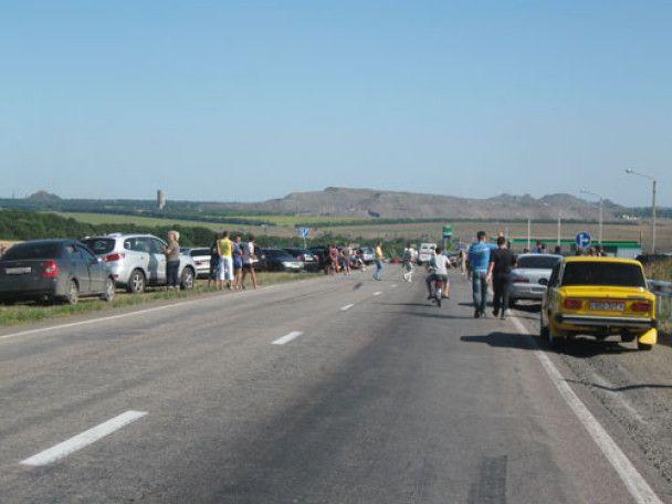 Вибух піротехніки під Донецьком