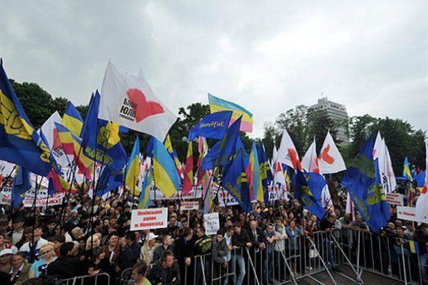 Тисячний мітинг опозиції біля Верховної ради