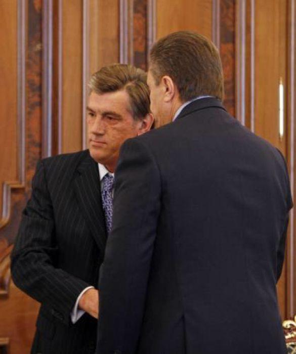 Віктор Янукович і Віктор Ющенко
