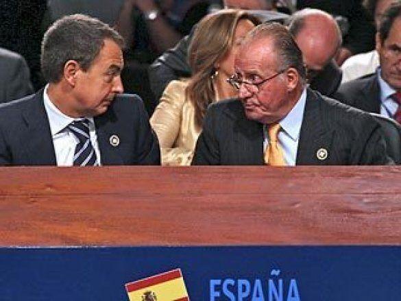 Прем'єр-міністр Хосе Луїс Родрігес Сапатеро та король Іспанії Хуан Карлос