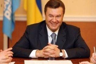 Янукович отмечает первую годовщину президентства