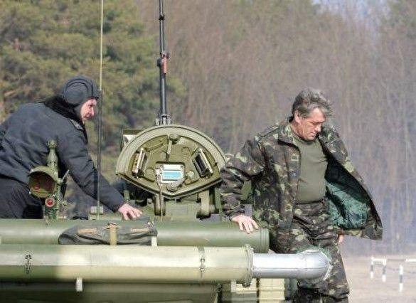 Ющенко на полігоні в Гончарівському