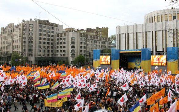 Мітинг опозиції на Європейській площі 2 травня 2007 року