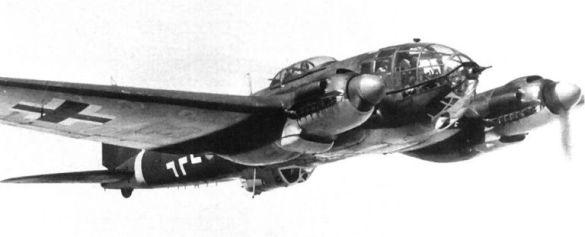 He.111H с чорним камуфляжем для нічних операцій