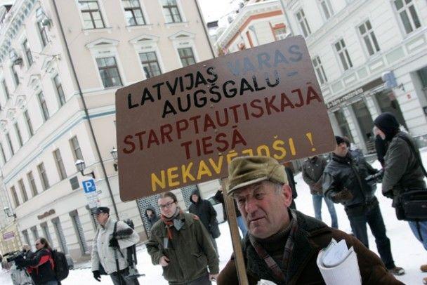 "В Риге прошел марш ветеранов ""Ваффен СС"""