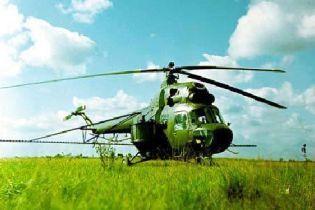 Впав гелікоптер Мі-2
