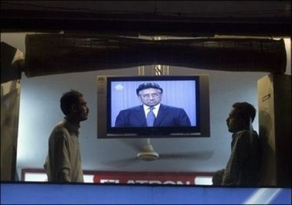 Мушарраф по телевізору