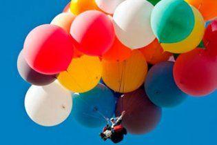 Американець перетнув Ла-Манш на повітряних кульках