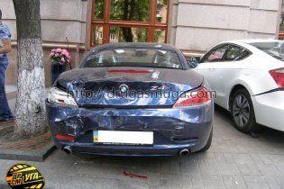 В центре Киева столкнулись пять элитных автомобилей