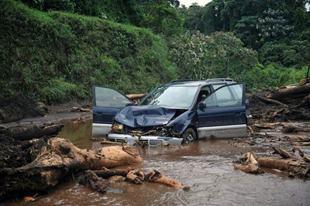 Страшные последствия тропического шторма Агата