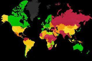 """Украина приблизилась к """"хвосту"""" списка миролюбивых стран"""