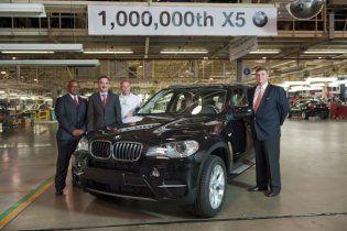 BMW випустила мільйонний екземпляр моделі X5