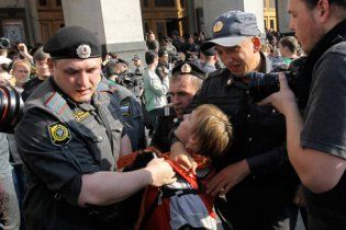 Задержанного на митинге оппозиции в Москве в посадили в тюрьму на 2,5 года