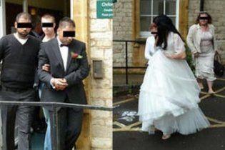 Молодоженов арестовали во время свадьбы