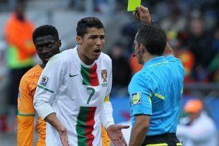Португалия требует аннулировать желтую карточку Криштиану Роналду